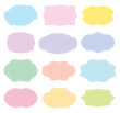 pastel colored different geometric shapes set - 257948677