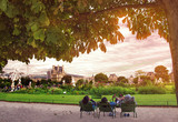 Garden of Tuileries (Jardin des Tuileries) outside the Louvre in Paris, France