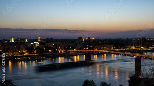 Novi sad Sicht von Oben auf die Donau © Christian