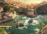 Beautyful sea bay in Dubrovnik, croatia