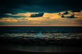 dark and moody sunrise