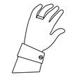 human hand cartoon