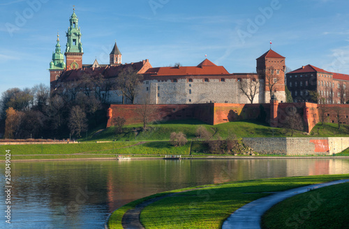 The medieval Wawel castle in Kracow, Poland