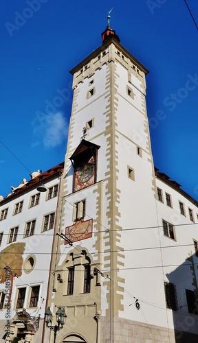 canvas print picture Würzburg, Grafeneckart, Rathausturm