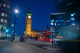 Fototapeta Fototapeta Londyn - big ben and houses of parliament in london at night © Rebecca Hammer