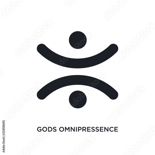 gods omnipressence isolated icon. simple element illustration from zodiac concept icons. gods omnipressence editable logo sign symbol design on white background. can be use for web and mobile © zaurrahimov