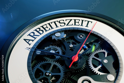 canvas print picture 3D Illustration Arbeitszeit