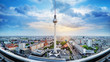 panoramic view at the city center of berlin - 258161027