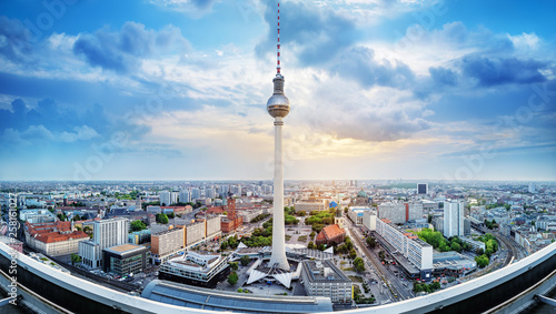 panoramic view at the city center of berlin © frank peters