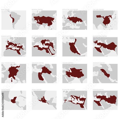 vector map of the greatest world empires © drutska