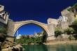 Leinwanddruck Bild - Old Bridge, Mostar, Bosnia and Herzegovina