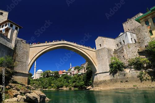 Leinwanddruck Bild Old Bridge, Mostar, Bosnia and Herzegovina