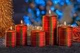 Christmas still life of home lighting candles