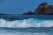 canvas print picture - Brandung vor der Ilhé Mole, Porto Moniz, Madeira