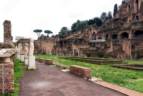 fototapeta na ścianę temple of Vesta in Rome, the ancient ruins of the Roman forum