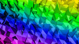 rainbow deformed three-dimensional plane. abstract background. 3d render