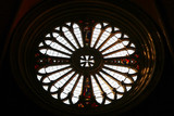 Modena, Emilia Romagna, Italy, church rose window in the cathedral, Unesco world heritage site