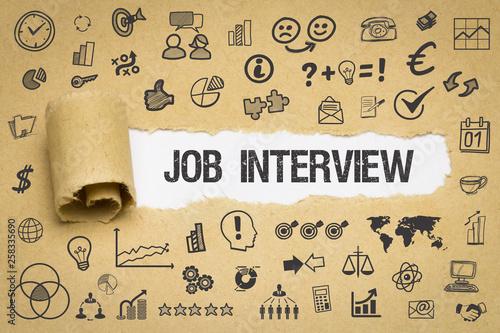 canvas print picture Job Interview