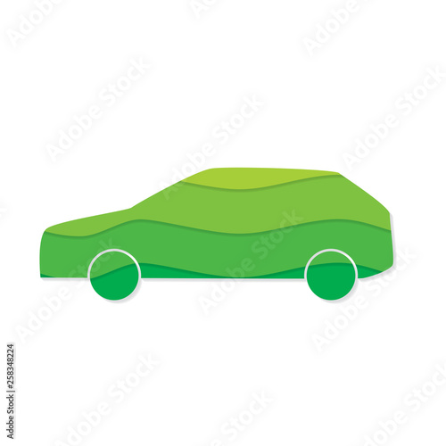 eco friendly car icon- vector illustration
