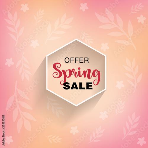 d57ed16356f Banner spring sale. Vector illustration. Shopping special offer design.