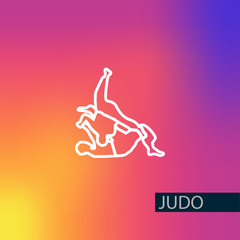 Judo vector icon