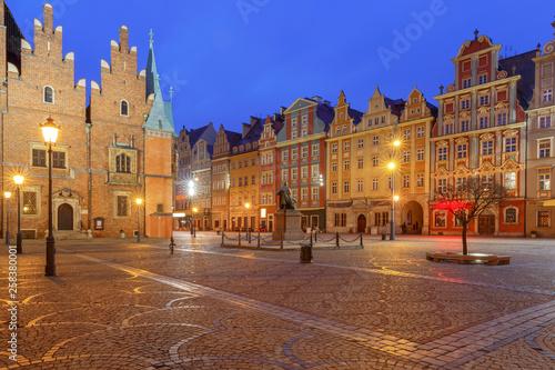 fototapeta na ścianę Wroclaw Market Square at night.