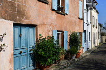 Marly le Roi; France - march 26 2017 : old village in spring