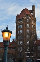 Medieval Style Building Tower Design in Forest Hills Queens New York City © Kit