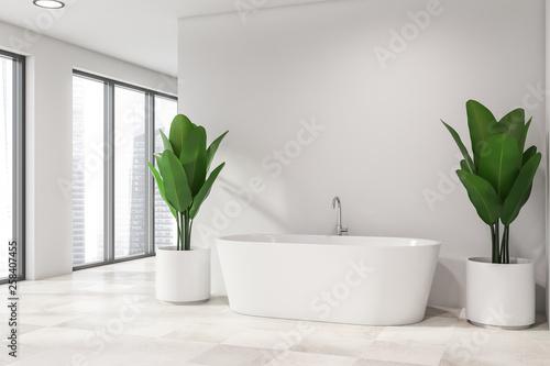 Modern light bathroom interior. - 258407455