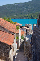 Ston, Croatia small coastal town at Peljesac penisula © sasaperic