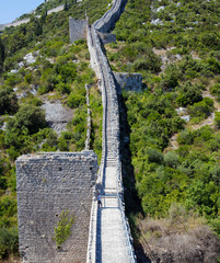 Old medieval fort in Ston, Croatia. Wall was originaly 7km long. © sasaperic