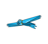 parrot bird animal flying isolated icon