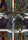 Fototapeta Fototapety dla młodzieży - Colorful abstract illustration with elements of art © Valentyn