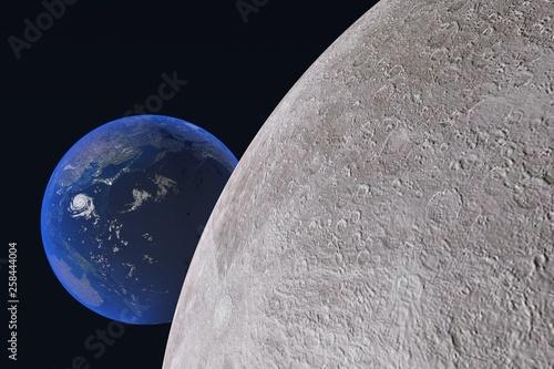 月と地球 © 隆 高野