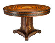 Round table triangular base with clipping path.