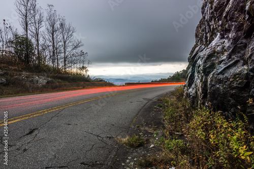 fototapeta na ścianę Graveyard fields overlook in the smoky mountains in north carolina