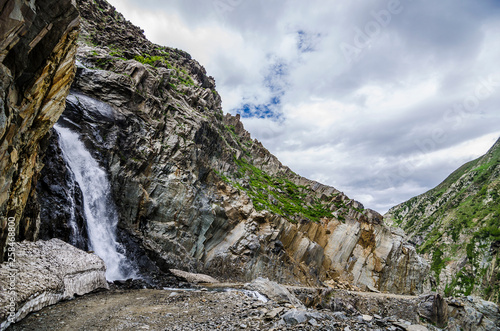 Waterfall in the mountains-Himalayas © akash