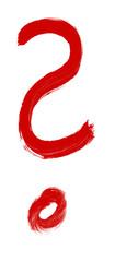 Handgemaltes rotes Fragezeichen © kebox