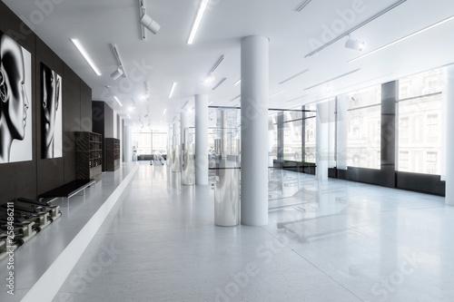 Fototapeten Fitness Treadmills in the fitness center (design) - 3d visualization