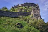 Ruins on mediaeval castle in Devin, former village nowdays part of Bratislava city in Slovakia