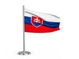 Flapping flag Slovakia