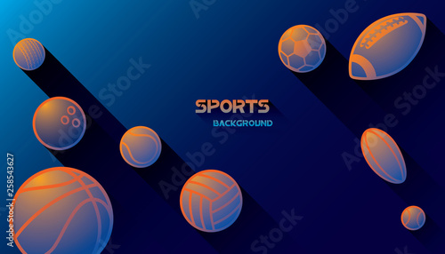 Abstract futuristic background with shadow effect. Vector sport concept