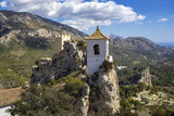 Guadalest castle with bell tower. Guadalest Alicante, Valencia, Spain - 258557004