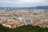 Panorama of Marseille from Basilique Notre Dame de la Garde, .Marseille, France - 258557051