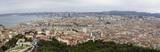 Panorama of Marseille from Basilique Notre Dame de la Garde, .Marseille, France - 258557056