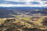 Aerial view view from castle  Morella, Spain - 258557078