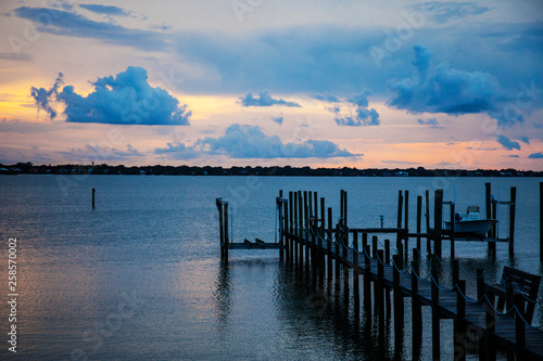 Boat Dock on the Bay, Florida © Clayton