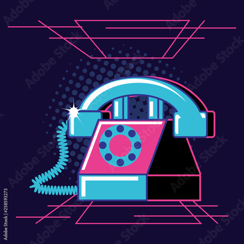 phone retro isolated icon