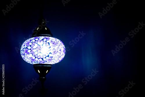 canvas print picture Orientalische Lampe, Licht Dekoration Bar Restaurant