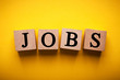 Jobs Wooden Blocks isolated For Business